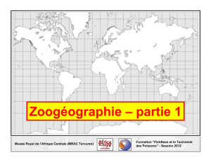 Zoogéographie – partie 1 - Royal Museum for Central Africa