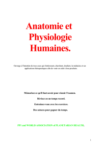 Anatomie et Physiologie Humaines.