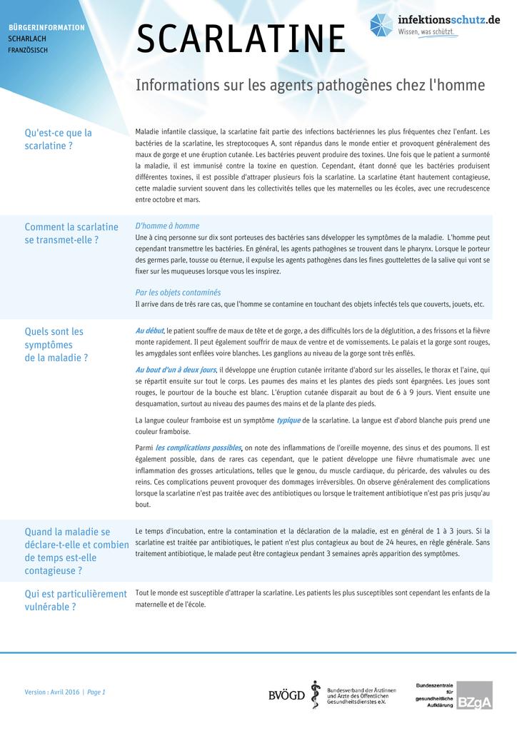 scarlatine - Infektionsschutz.de