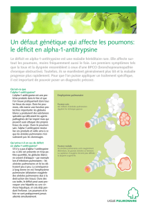 le déficit en alpha-1-antitrypsine