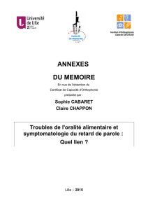 ANNEXES DU MEMOIRE