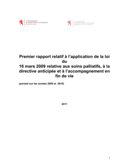 Premier rapport relative à l`application de la loi du