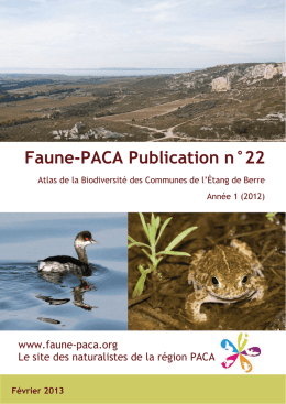 Faune-PACA Publication n°22