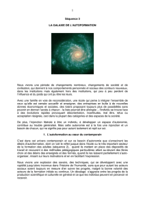 Séquence 3 LA GALAXIE DE L`AUTOFORMATION