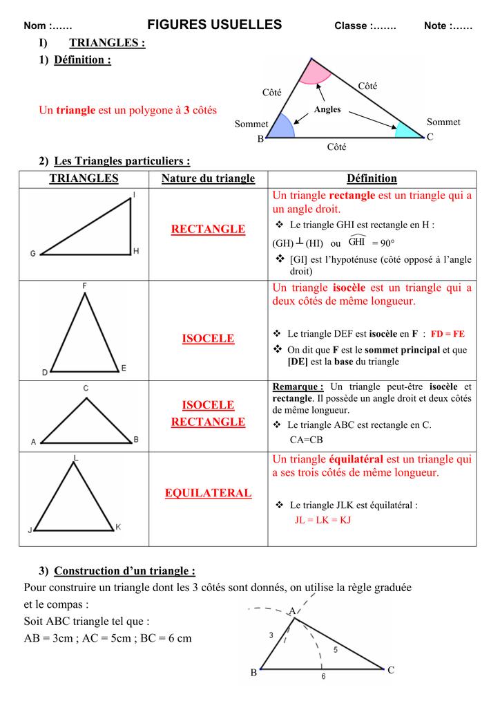 nature d un triangle