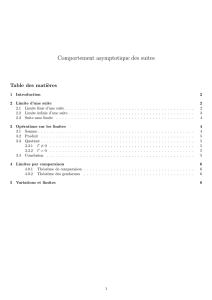 Comportement asymptotique des suites