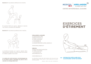 EXERCICES D`ÉTIREMENT