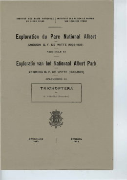 Exploration du Parc National Albert - Archives