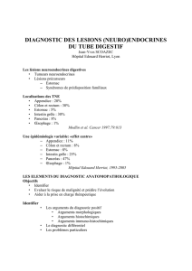 diagnostic des lesions (neuro)endocrines du tube digestif
