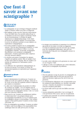 Scintigraphie - clinique Sainte ANNE