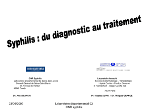 Syphilis : du diagnostic au traitement
