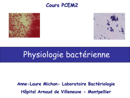 Physiologie bactérienne