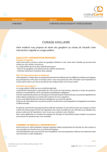 curage axillaire - Cancers du Sein