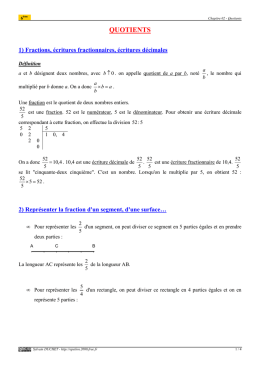 Quotients (cours 6ème) - Epsilon 2000