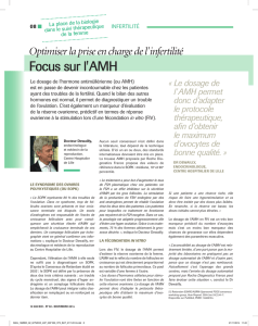 Focus sur l` AMH - Roche Diagnostics France