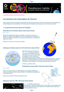 Les pionniers de la description de l`Univers