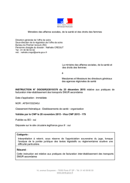 instruction n° dgos/r2/2015/378 - Circulaires.gouv.fr