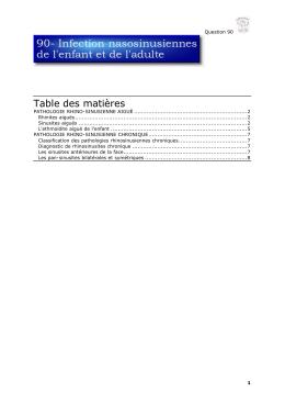 rhinorrhée postérieure chronique