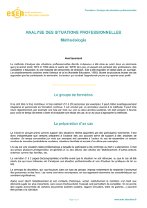 Analyse des situations professionnelles