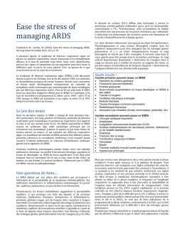Ease the stress of managing ARDS