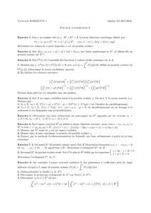 Feuille d`exercices 8