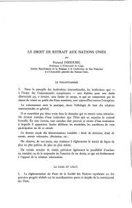 LE DROIT DE RETRAIT AUX NATIONS UNIES