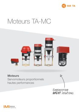 Moteurs TA-MC - IMI Hydronic Engineering