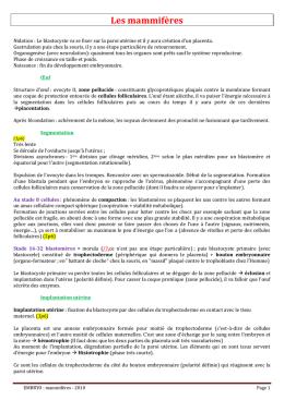 Embryologie - Table nationale de codage de biologie ...