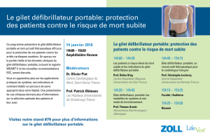 Le gilet défibrillateur portable: protection des patients contre le