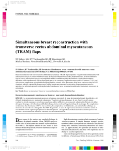 Simultaneous breast reconstruction with transverse rectus