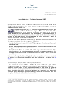 Keensight rejoint l`Initiative Carbone 2020
