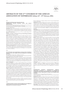 ABSTRACTS OF THE 11TH CONGRESS OF THE AFRICAN
