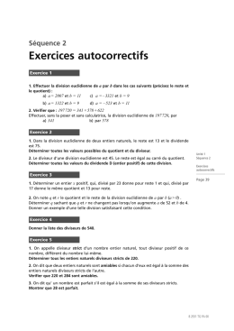 Exercices - Laurent Debize