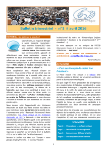 Bulletin d`info du Pacte civique, n°3, avril 2016