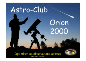 Optimiser ses observations célestes - Astro