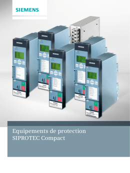 Equipements de protection SIPROTEC Compact