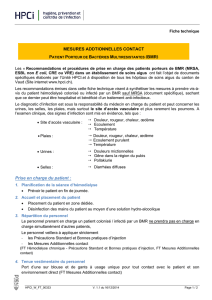 Prise en charge du patient : MESURES ADDTIONNELLES CONTACT