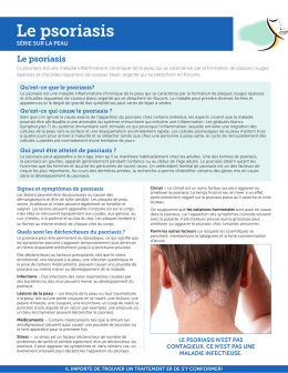 Le psoriasis - Canadian Dermatology Association