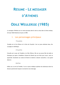 le messager d`athenes odile weulersse (1985)