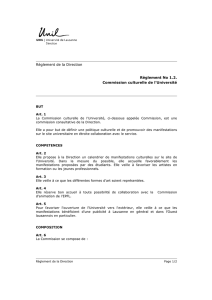 Commission culturelle de l`Université