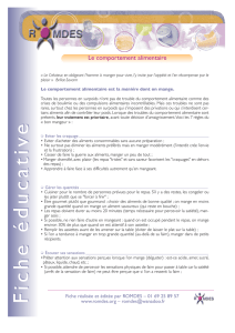 Le comportement alimentaire