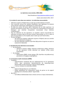 1 Les infections nosocomiales, BMR, BHRe Oana