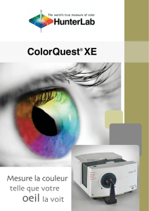 HunterLab Brochure ColorQuest XE francais