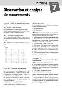 Observation et analyse de mouvements