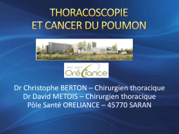la thoracoscopie dans la prise en charge du cancer du poumon.
