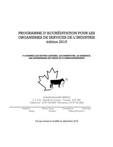 accreditation program for artificial insemination, embryo transfer and