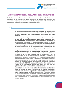 Ordonnance portant modernisation de la régulation de la concurrence