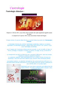 l`astrologie chinoises