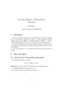 1 Notations 2 TD 4/10/2012