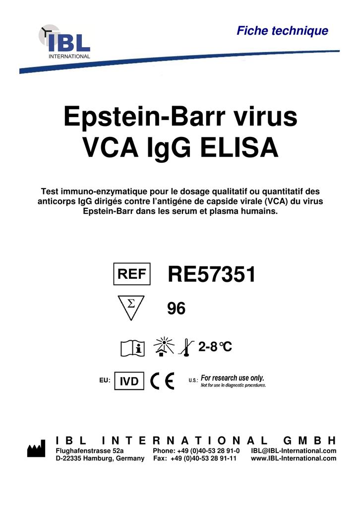 Epstein-Barr virus VCA IgG ELISA